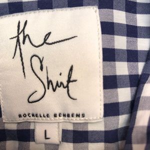 The Shirt by Rochelle Behrens Tops - The Shirt by Rochelle Behrens navy gingham icon